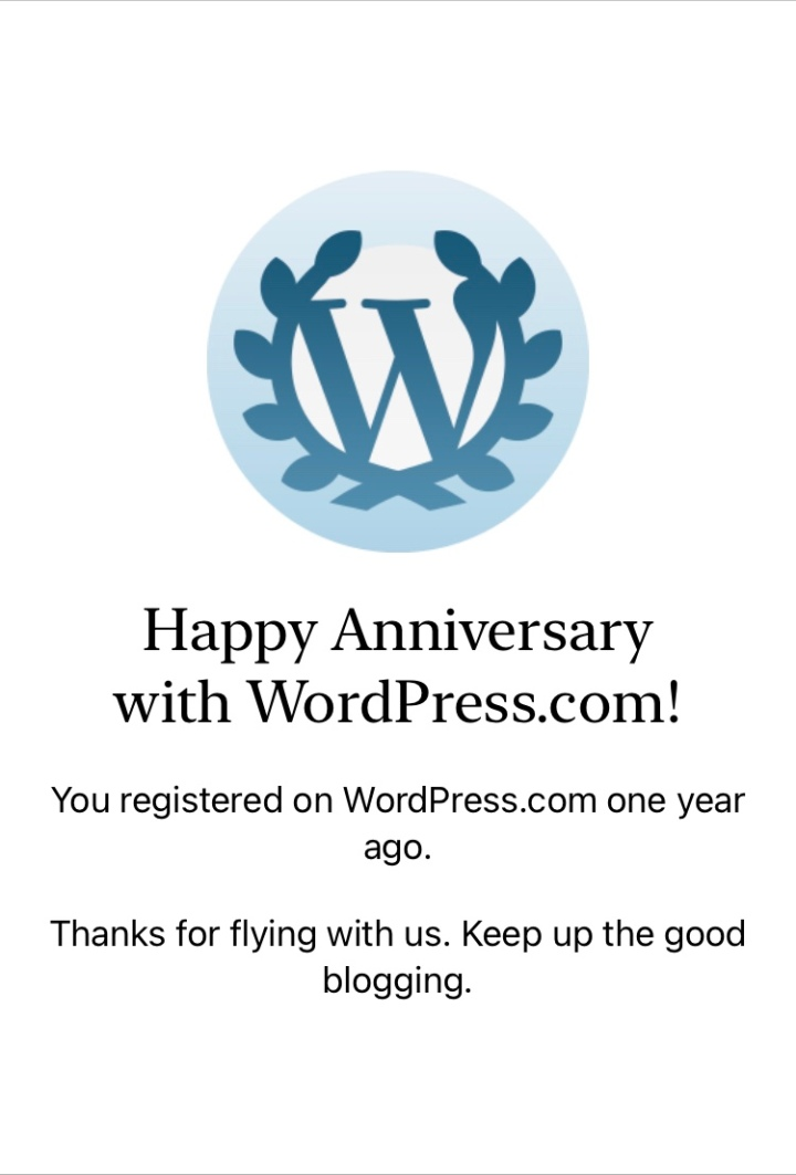My WordPress Anniversary!